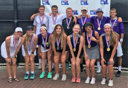 The Mason High School tennis team had another great showing in Class 2A at the UIL state tennis tournament in College Station Friday, May 17, 2019.