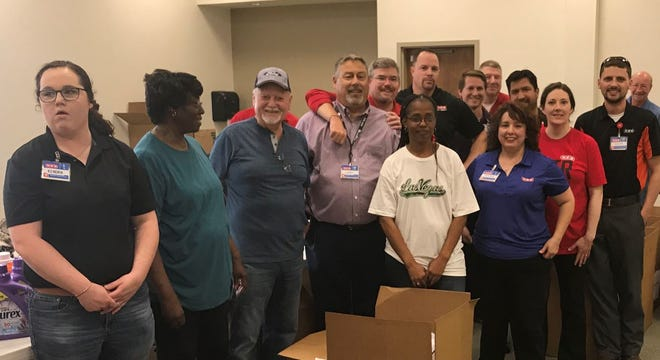 Employees from San Angelo's HEB food stores joined other local volunteers for the United Way of the Concho Valley's Day of Caring event, which presented household goods to veterans in need.