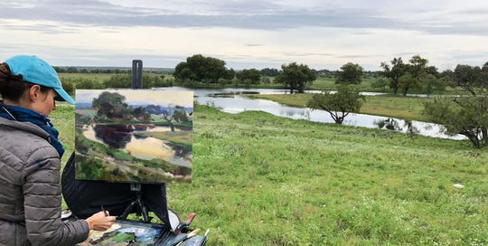 Kathleen Hudson, winner of the 2018 EnPleinAirTEXAS competition, will return to San Angelo for the October contest.
