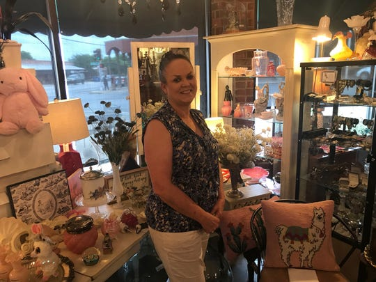 Chandra Harris co-owns Concho Confetti Antiques Mall with her best friend Sue Gomez.