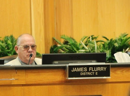 James Flurry at a City Council meeting May 14.