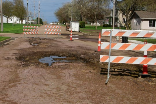 Small towns like Lennox, shown here, may have difficulty paying for road repairs related to flooding after already setting annual budgets.