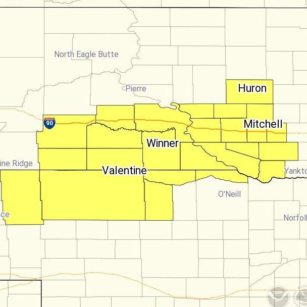 Weather updates: Severe thunderstorm watch issued for south-central S.D.