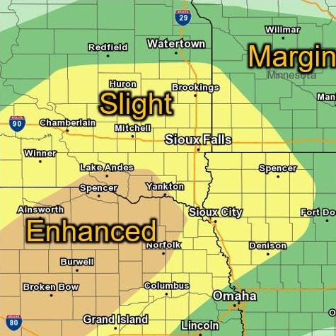 Damaging winds, large hail, tornado possible during severe storms Friday