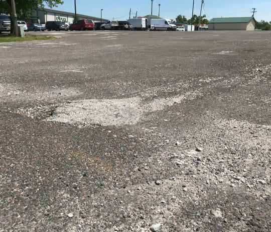 Reader asks when the Ozark Empire Fairgrounds & Event Center will fix parking lots. Or at least stripe them.
