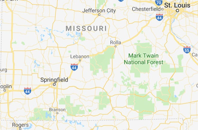 There are numerous large tracts that make up the Mark Twain National Forest in Missouri