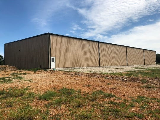 This city-owned spec building at the Waynesville Industrial Park could become a medical marijuana facility.