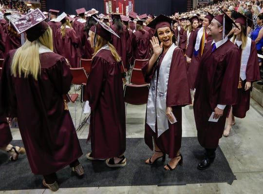 Scenes from Missouri State University's graduation ceremony at JQH Arena on Friday, May 17, 2019.