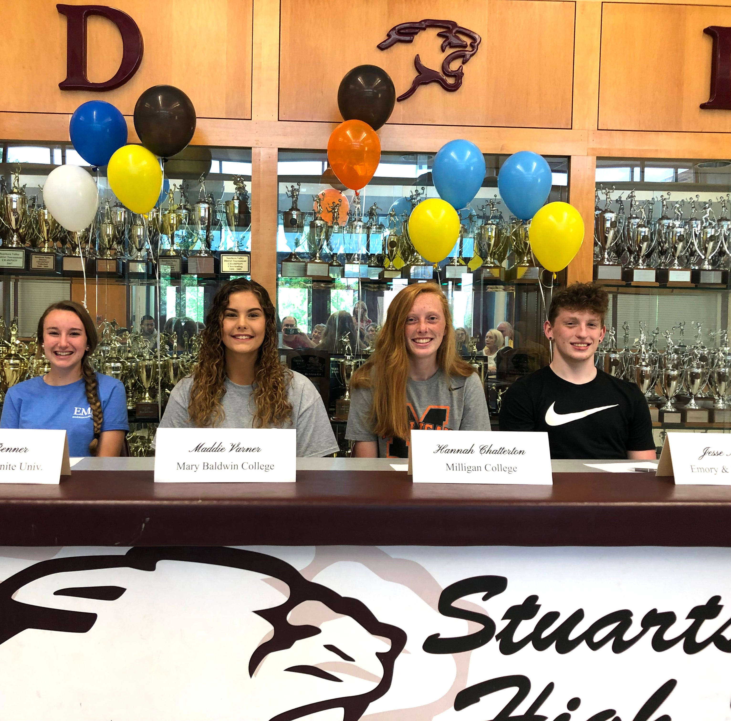 Draft senior athletes announce their college choices