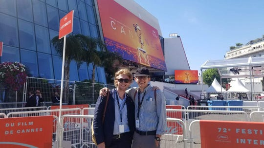 """FSU film students William Stead (left) and Evan Barber are in France attending the 2019 Cannes Film Festival. They were invited to the festival to screen their film """"The Flip Side."""""""