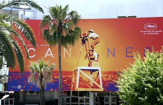 A view of the Palais des festivals during the 72nd international film festival, Cannes, southern France, Monday, May 13, 2019. The Cannes film festival runs from May 14th until May 25th 2019. (Photo by Joel C Ryan/Invision/AP)