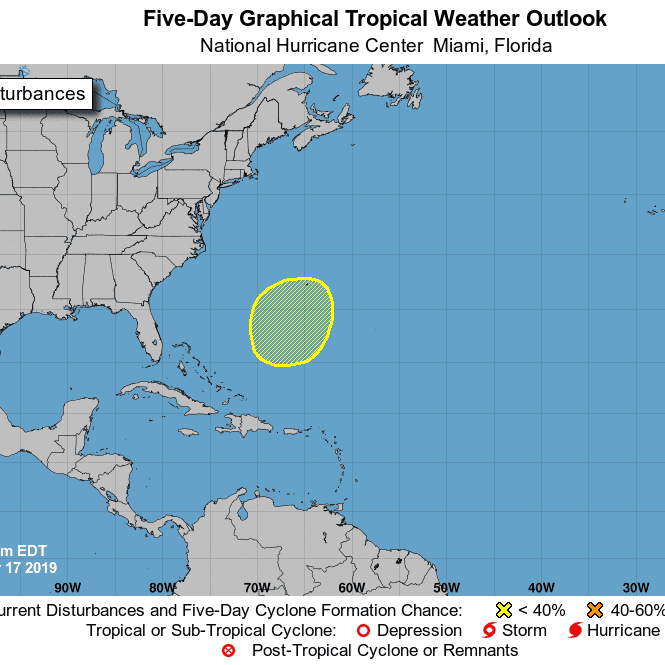 National Hurricane Center monitoring system off Bermuda that could develop over the next week