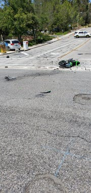 This was the scene of a fatal motorcycle crash near the AMC movie theater in Thousand Oaks on Friday afternoon.