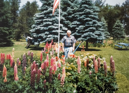 Wally Rozella loved to garden, and kept a full garden in his backyard behind Wally's Bar.