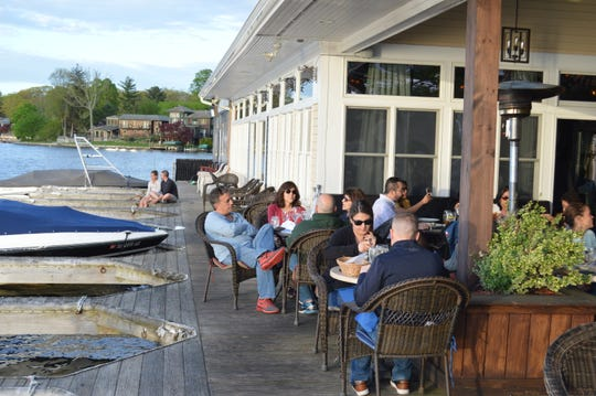 Lakeside dining attracted diners to Blu on the Lakeshore on May 11, 2019.