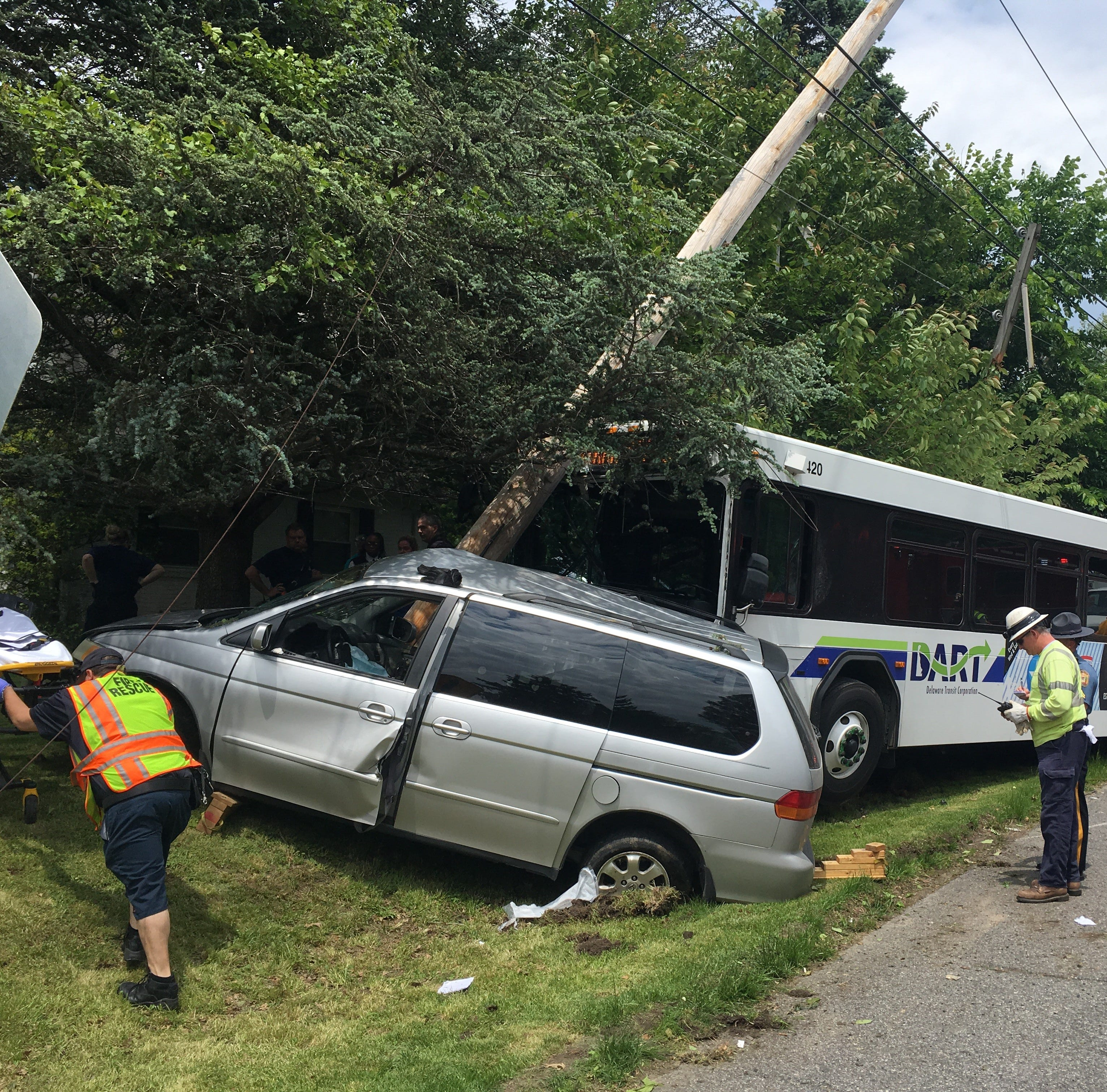 DART bus crash shuts portion of Marsh Road in Brandywine Hundred
