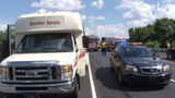 A crash involving an Easter Seals bus Thursday afternoon injured several people.  Video provided by John J. Jankowski Jr.  5/17/19