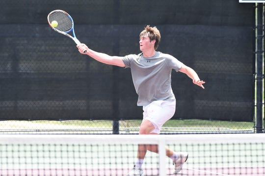Vernon's BT White won a state title in mixed doubles last season. Last week, he helped Vernon finish second in the Class 4A Team Tennis Championships.