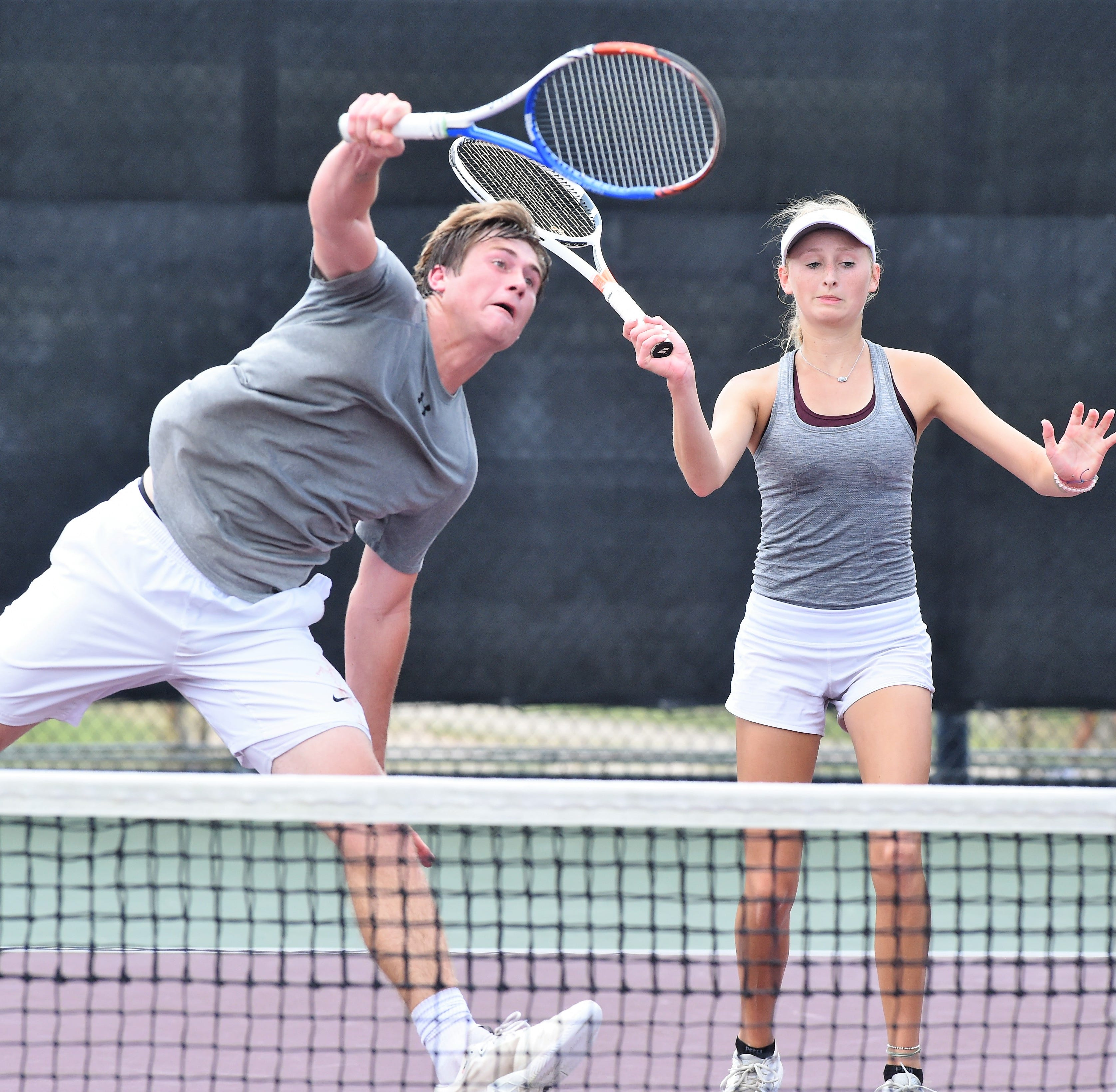 UIL Tennis: Vernon's Castleberry, White storm back to take 4A mixed title in three sets
