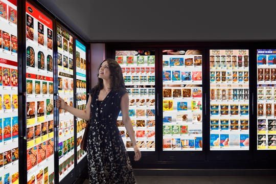 Walgreens is testing digital screens on cooler doors from a company called Cooler Screens.