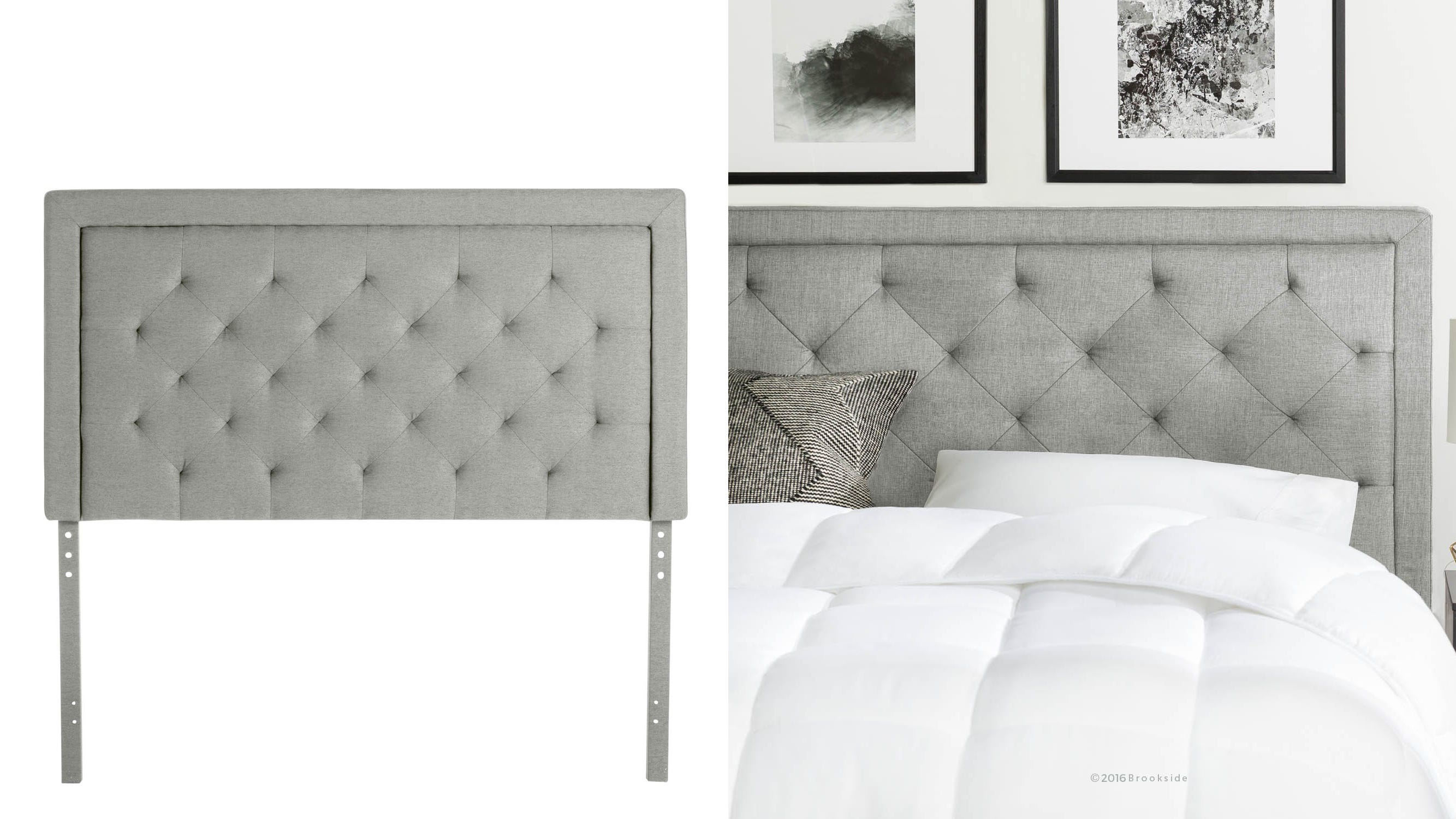 This gorgeous headboard can make your bed look even more inviting.