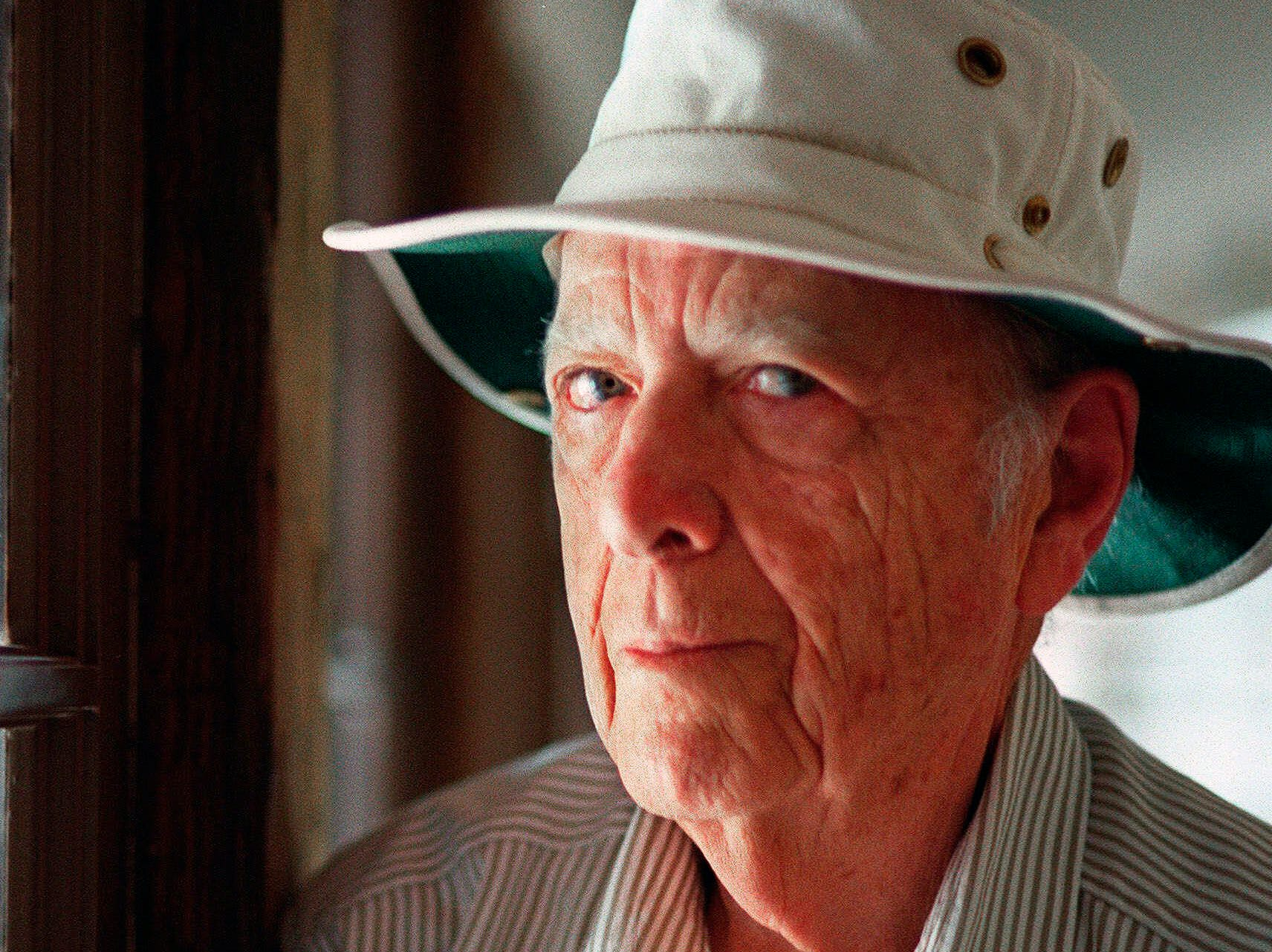 This May 15, 2000, file photo, shows Pulitzer Prize-winning author Herman Wouk in Palm Springs, Calif. Wouk died in his sleep early Friday, May 17, 2019, according to his literary agent Amy Rennert. He was 103.
