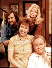 Rob Reiner, left, Jean Stapleton, Sally Struthers and Carroll O'Connor starred the groundbreaking 1970s sitcom, 'All in the Family.'