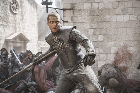 "Don't name your kids Grey Worm, advises ""Game of Thrones"" actor Jacob Anderson, whose character kind of snapped in the penultimate episode. ""That's forever."""