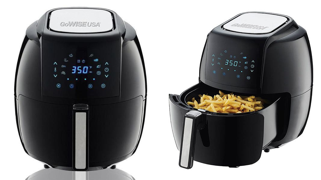 This extra-large air fryer is great for family dinners.