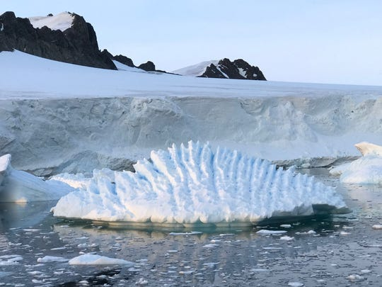An iceberg at Marguerite Bay on the Antarctic Peninsula. New research finds that 24% of West Antarctic ice is now unstable.