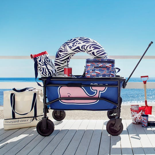 Vineyard Vines for Target includes clothing, accessories, home appliances, and pet supplies.