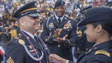 This Army vet skipped his own college graduation to be there for his daughter's graduation. He even gave her her First Salute during the Army commissioning ceremony.