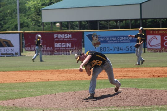 Crescent pitcher Jarrett Oakes delivers the pitch.