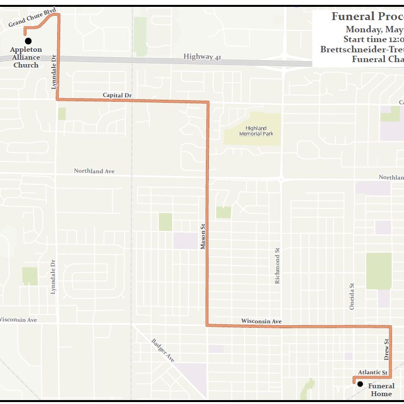 Appleton firefighter funeral plans, procession route set ahead of public Monday visitation