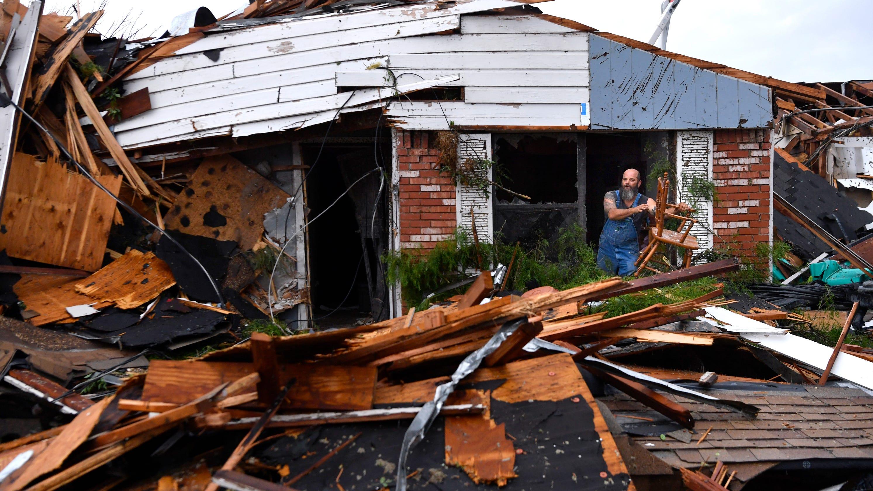 Heavy Storm Tornado Winds Cause Major Damage In Abilene