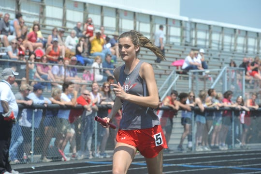 Lexi Evak was part of the record-breaking 4x400 relay team that was a two-time regional qualifier.