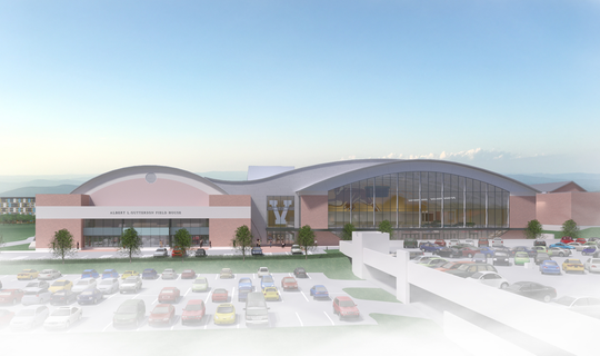 An artist's rendering of UVM's multi-purpose athletics facility.