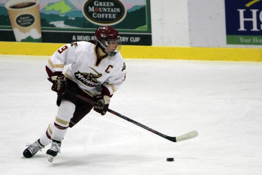 Sophie Leclerc, the former Spaulding High School standout, is seen in action during her playing days at Norwich University.