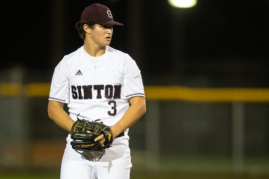 Sinton pitcher Zach Moses threw in two games in the Pirates series against Robstown.