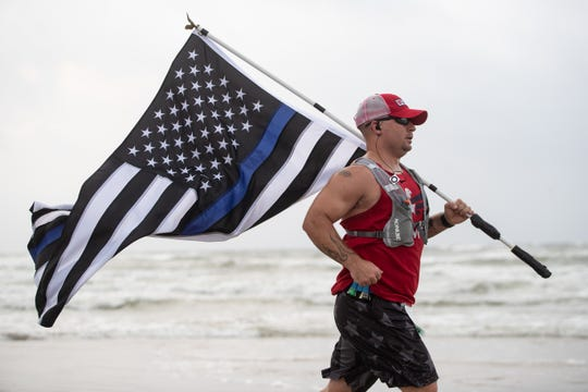 Racers take part in the first leg of the 44th annual Beach to Bay on Saturday, May 18, 2019.