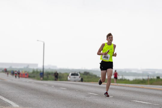 Racers take part in the fifth leg of the 44th annual Beach to Bay on Saturday, May 18, 2019.