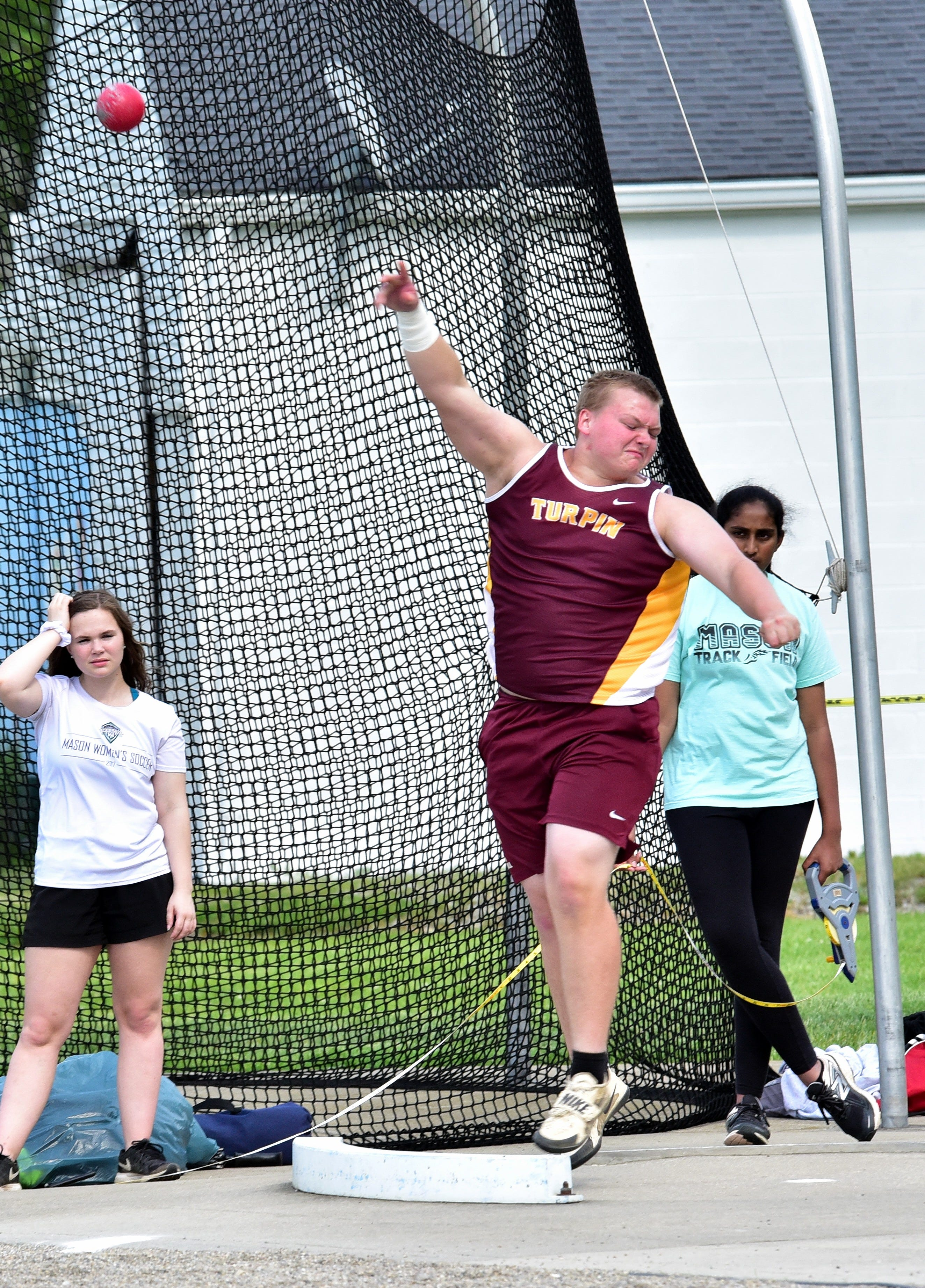 WATCH: Turpin's Gabe Hickman a state contender in shot put, discus