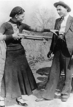 Outlaw gangsters Bonnie Parker and Clyde Barrow went on a crime spree in 1934.