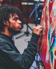 "Justin Jones, a self-taught multidisciplinary artist from Detroit, will be featuring during the pop-up exhibit ""Makings of You."""
