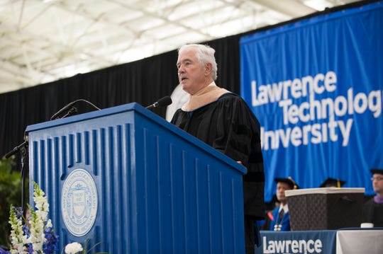 James B. Nicholson, Chairman of PVS Chemicals, gave his first commencement speech in 2018 at Lawrence Tech University.