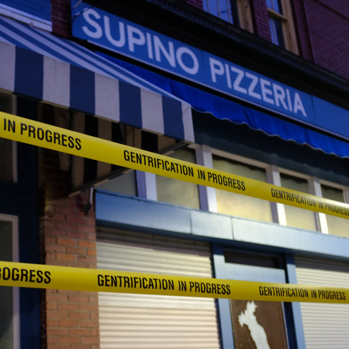 Eastern Market's Supino, Russell Street hit with 'gentrification in progress' protest art