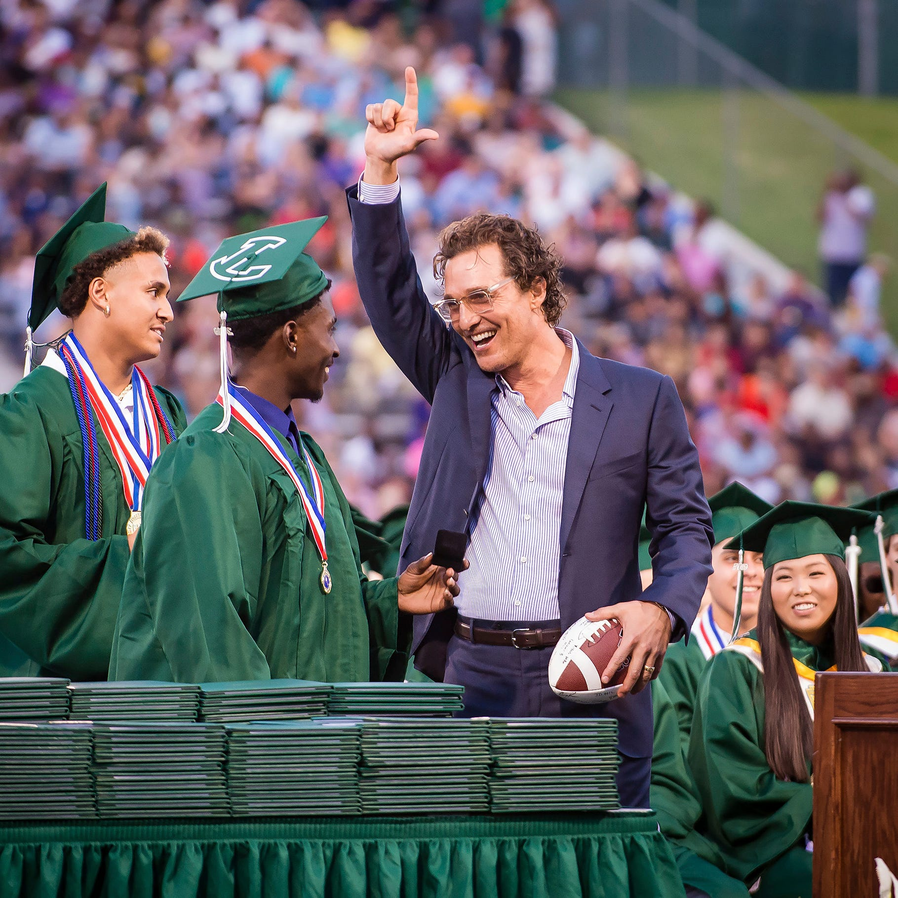 Matthew McConaughey receives high school diploma 31 years after graduating