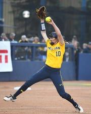 Michigan's Meghan Beaubien pitched 12 scoreless innings.