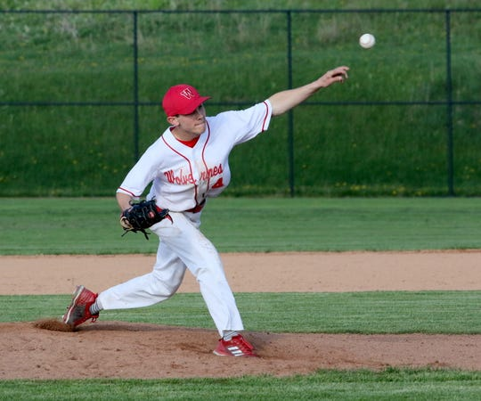 Colby Sindoni pitched a four-hitter for Waverly in a 3-1 win over Thomas A. Edison in the IAC baseball final May 17, 2019 at Tompkins Cortland Community College.