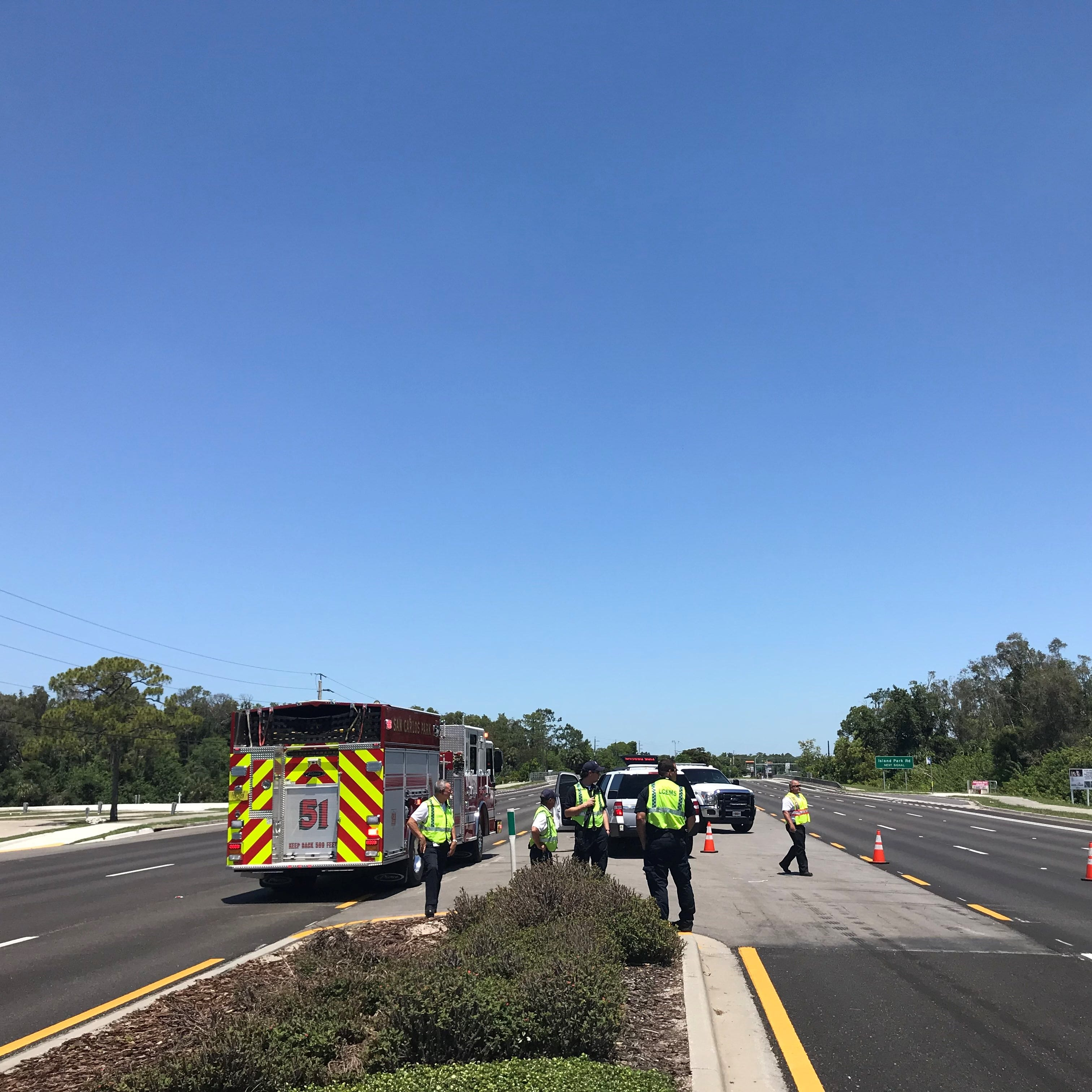 Gas leak caused road closures for hours Saturday on U.S. 41 in south Fort Myers